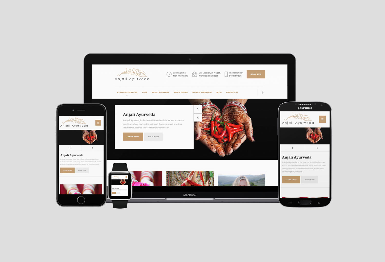 Anjali Ayurveda Health Home Page Website Design By Mango Tree Media