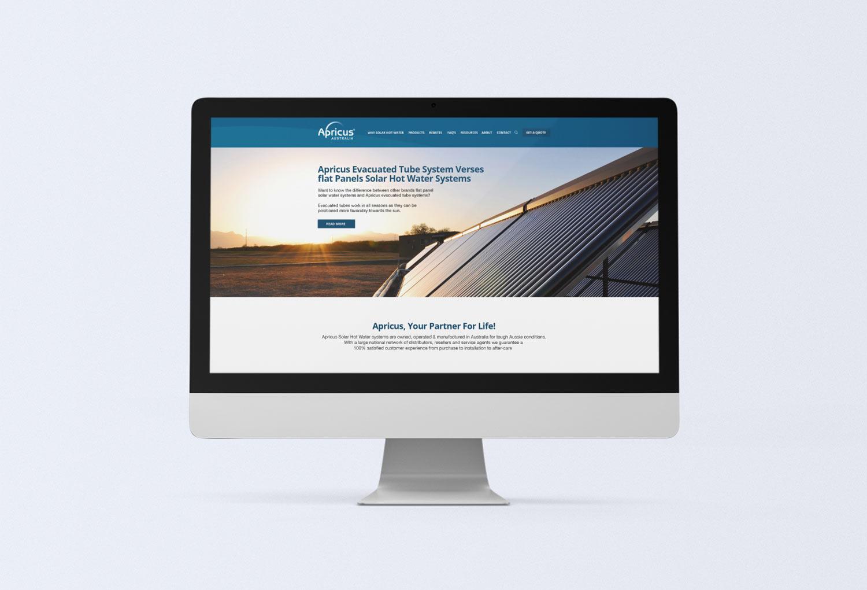 Apricus Solar Energy Home Page Website Design By Mango Tree Media