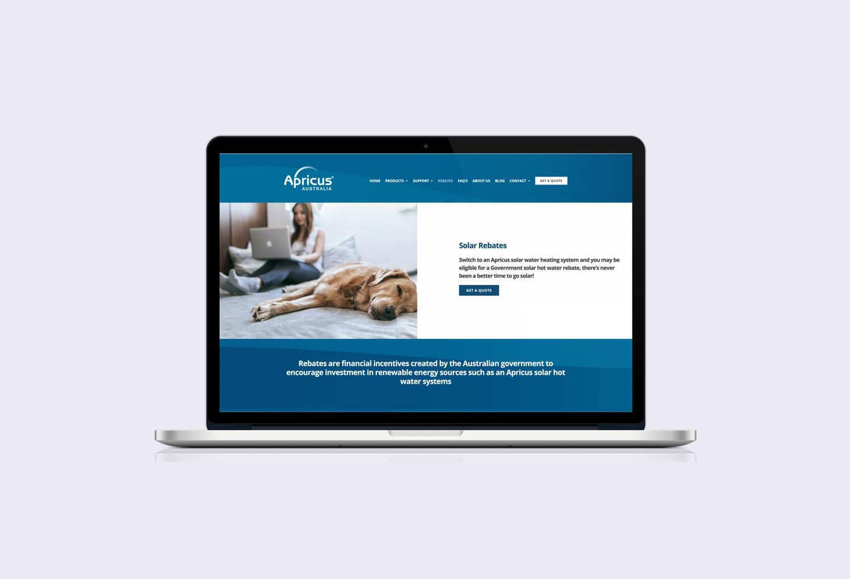 Apricus Solar Energy Solar Rebate Page Website Design By Mango Tree Media