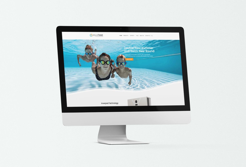 Aquaheat Solar Energy Home Page Website Design By Mango Tree Media