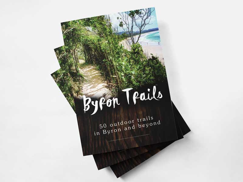 Byron Trails Book Cover Graphic Design By Mango Tree Media