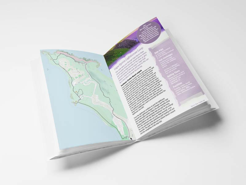 Byron Trails Book Interior Page Graphic Design By Mango Tree Media