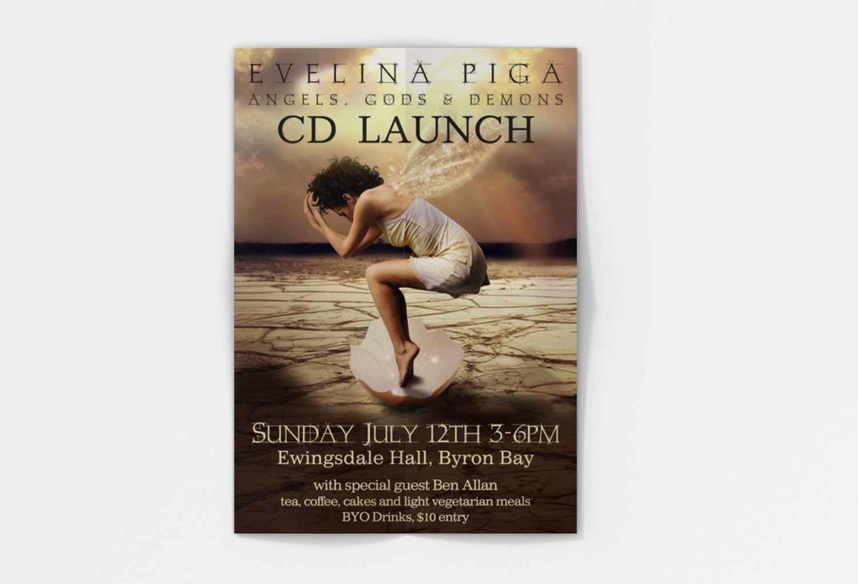 Evelina Piga Music Event Poster Music Graphic Design By Mango Tree Media