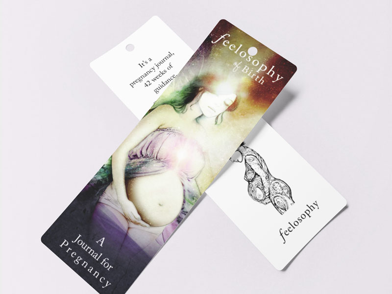 Feelosophy Of Birth Book Merch Bookmark Graphic Design By Mango Tree Media