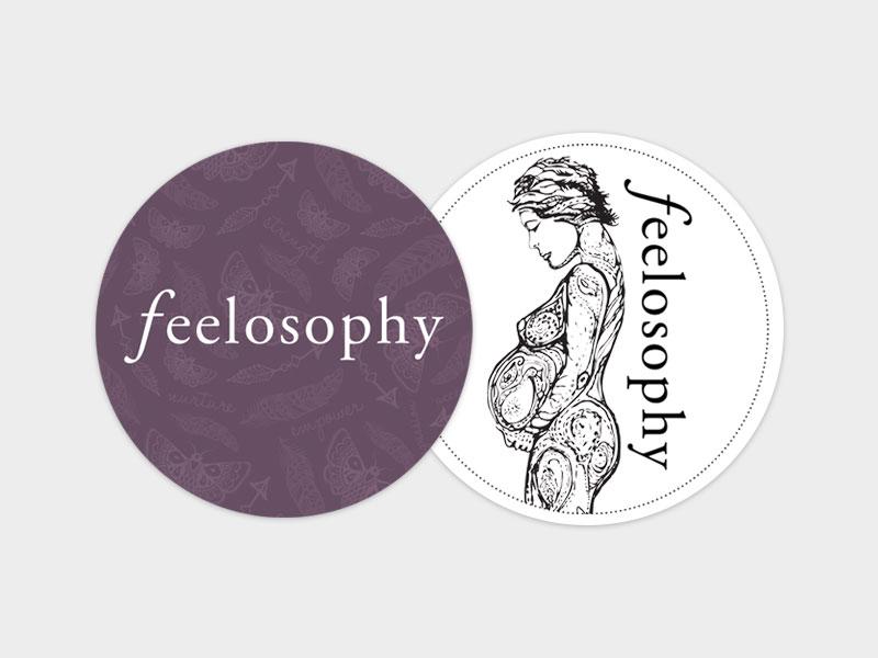 Feelosophy Of Birth Book Merch Sticker Graphic Design By Mango Tree Media