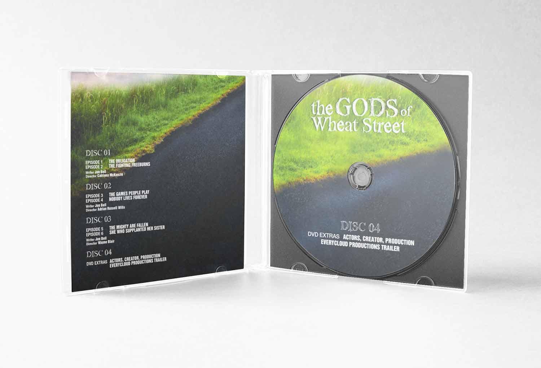 Gods Of Wheat Street DVD CASE TV Graphic Design By Mango Tree Media