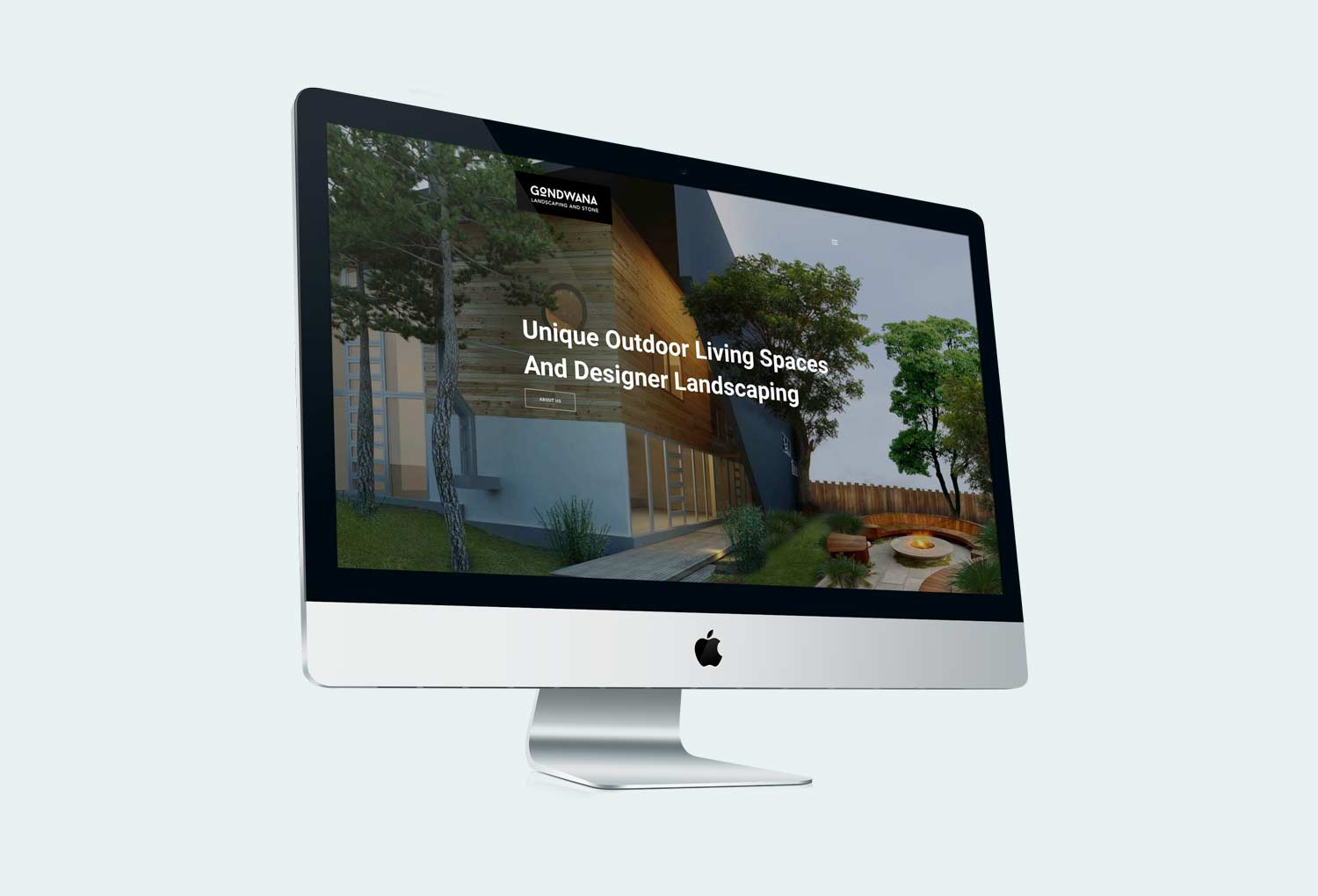 Gondwana Landscaping and Stone Home Page Website Design By Mango Tree Media