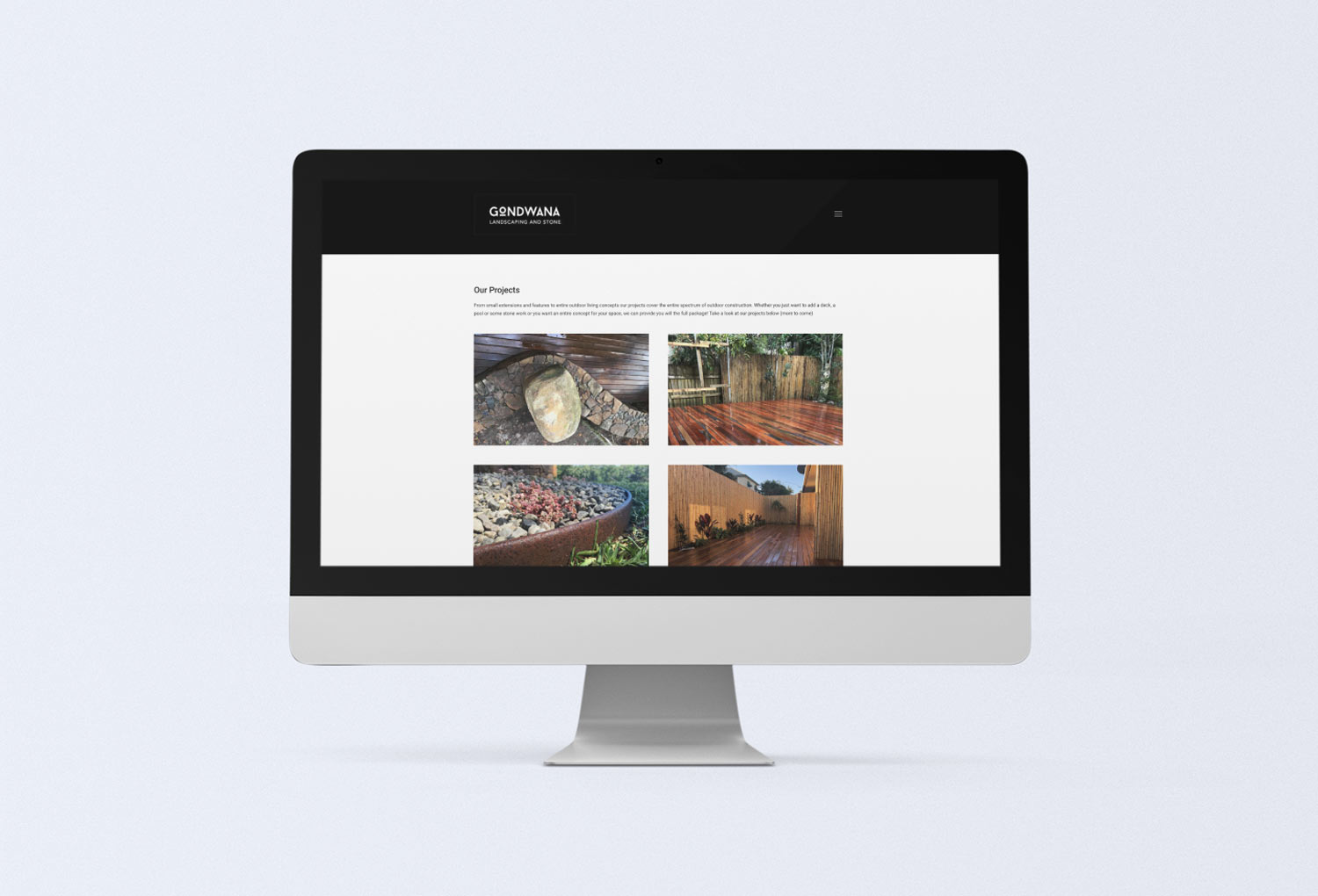 Gondwana Landscaping and Stone Projects Page Website Design By Mango Tree Media