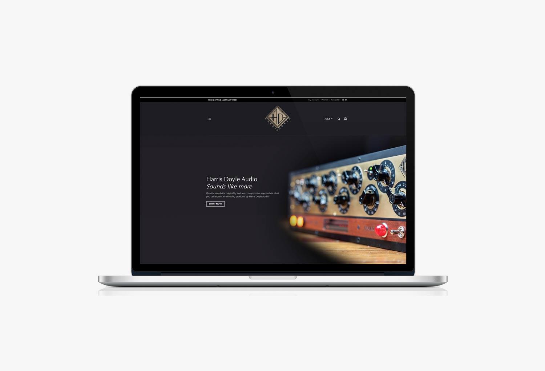 Harris Doyle Audio Home Page Website Design By Mango Tree Media