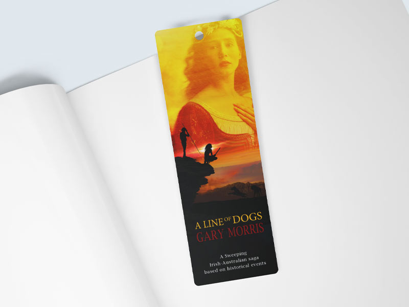 Line Of Dogs Bookmark Graphic Design By Mango Tree Media