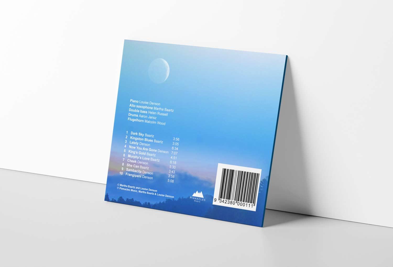 Martha Baartz Jazz Music CD Back Cover Music Graphic Design By Mango Tree Media