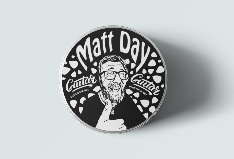 Matt Day Guitar Pic Tin Music Merch By Mango Tree Media