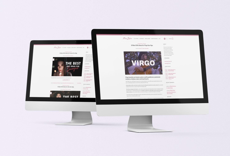 Miss Zodiac Blog Web Design Design By Mango Tree Media
