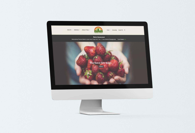 Mullumbimby Farmers Market Home Page Website Design By Mango Tree Media