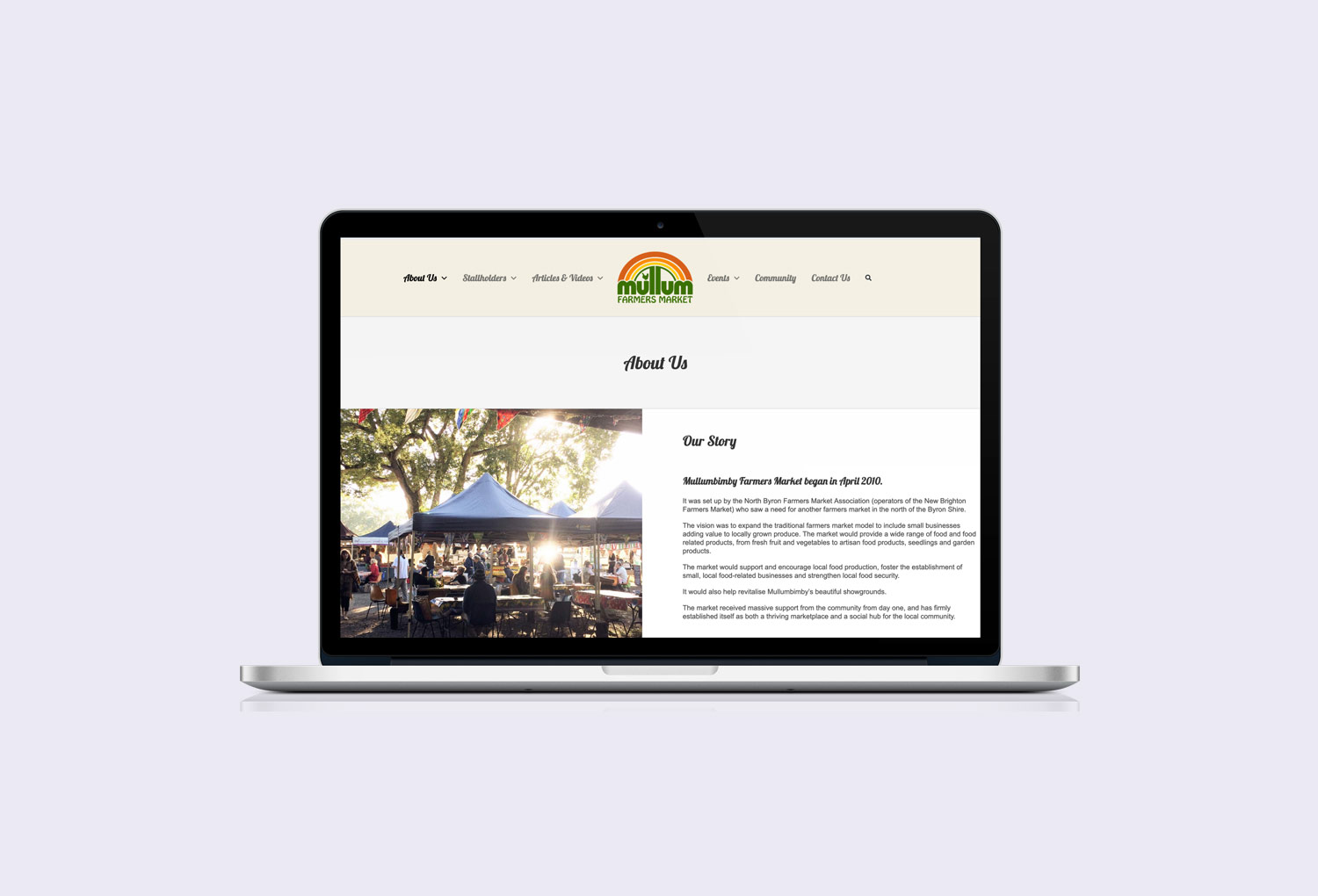 New Brighton Farmers Market About Page Website Design By Mango Tree Media