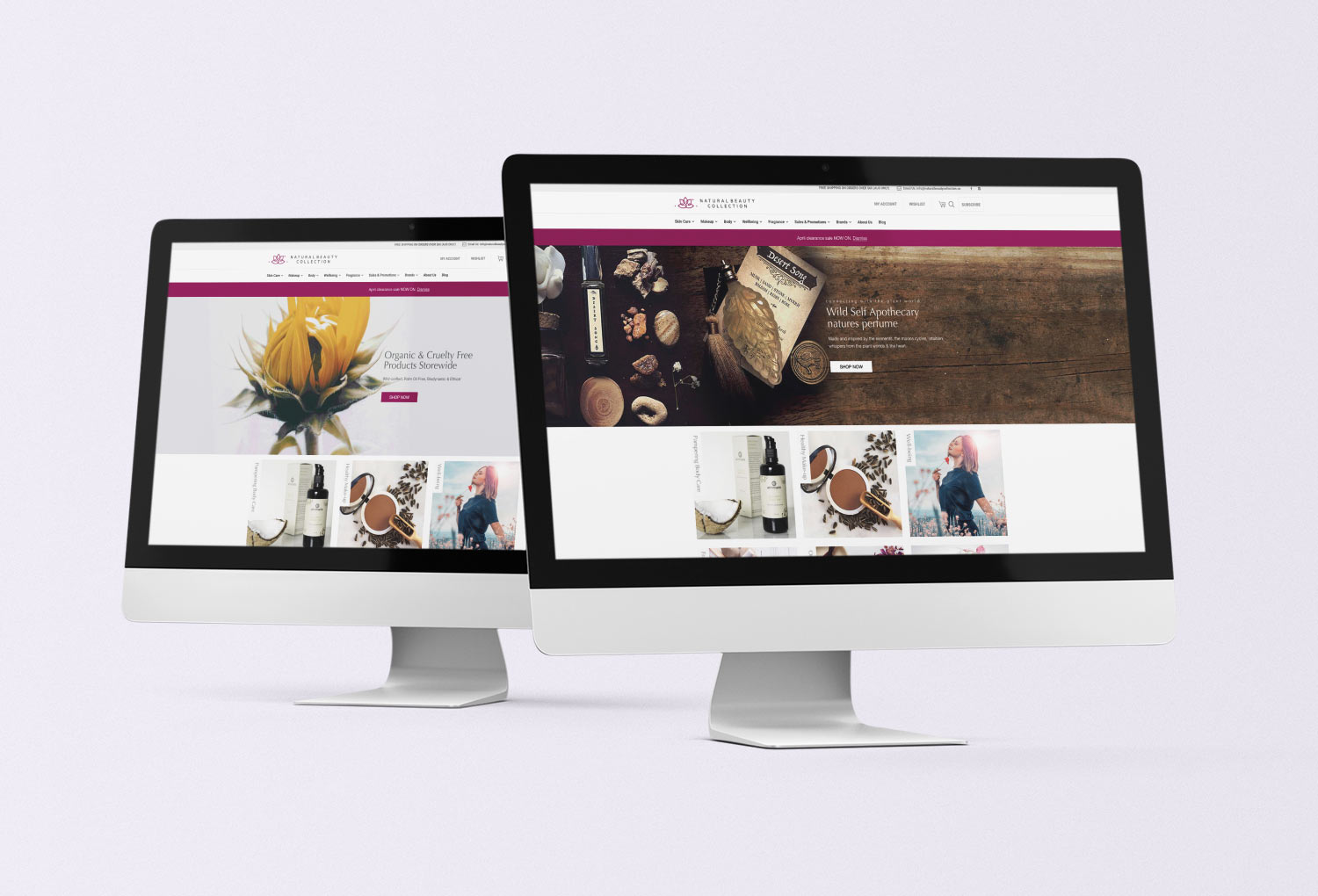Natural Beauty Collection Website Design By Mango Tree Media