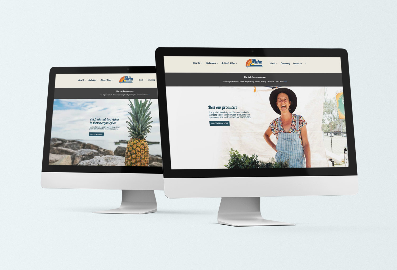 New Brighton Farmers Market Home Page Website Design By Mango Tree Media