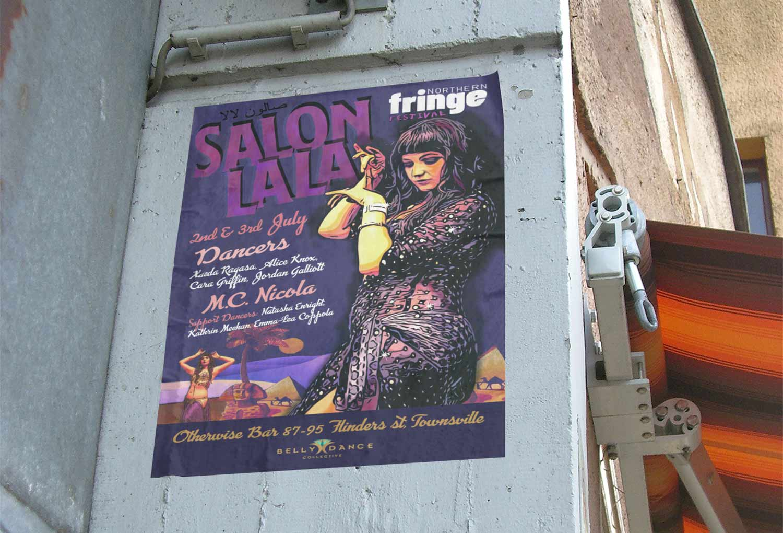 Salon La La Event Poster Design By Mango Tree Media