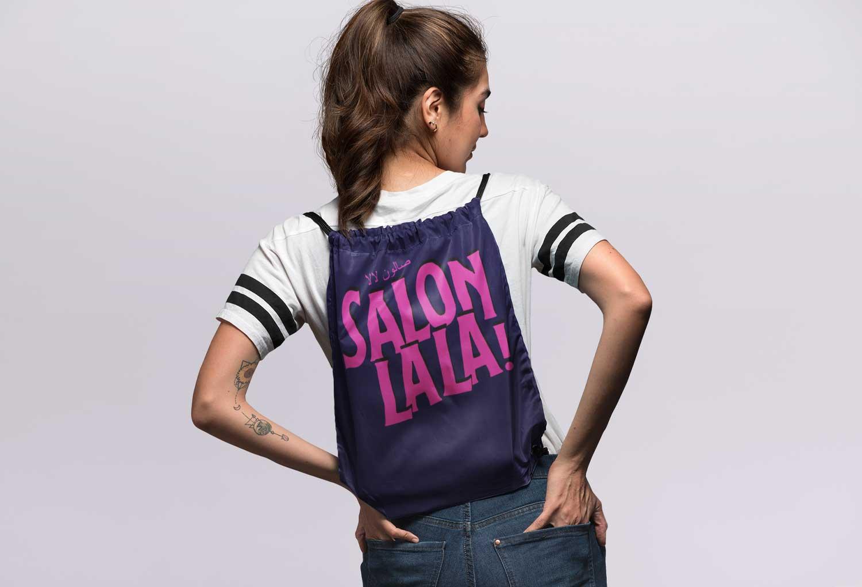 Salon La La Bag Merch Event Graphic Design By Mango Tree Media