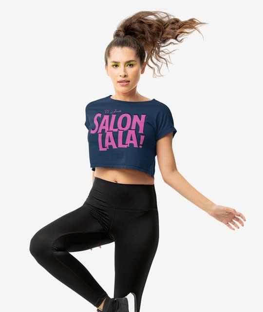 Salon La La Crop Top Merch Event Graphic Design By Mango Tree Media