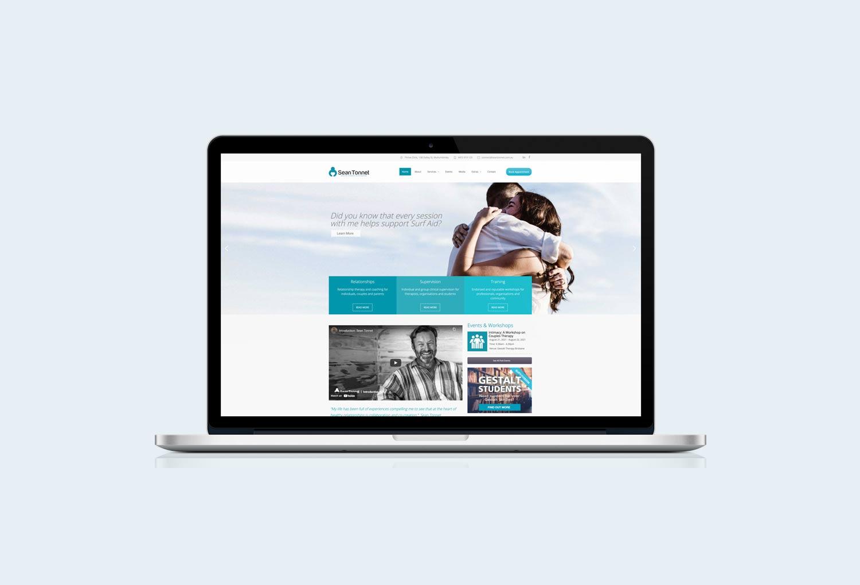 Sean Tonnet Psychology Home Page Website Design By Mango Tree Media