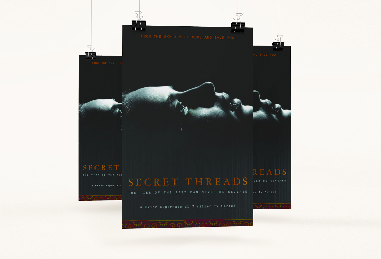 Secret Threads One-Sheet Film Pitch Document Cover By Mango Tree Media