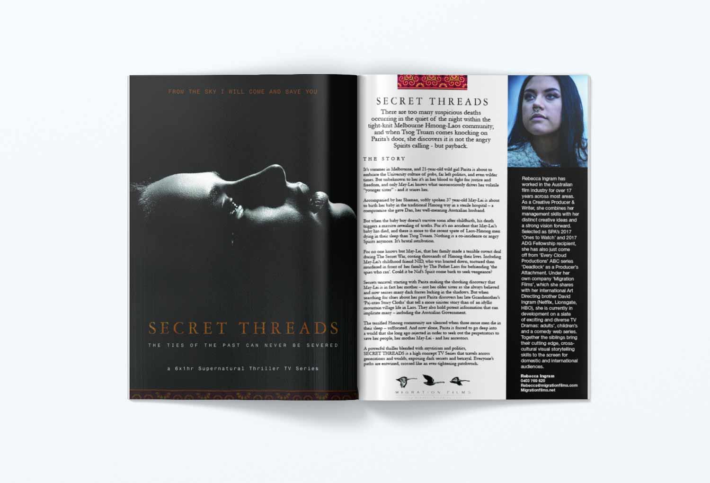 Secret Threads One-Sheet Film Pitch Document Brochure By Mango Tree Media