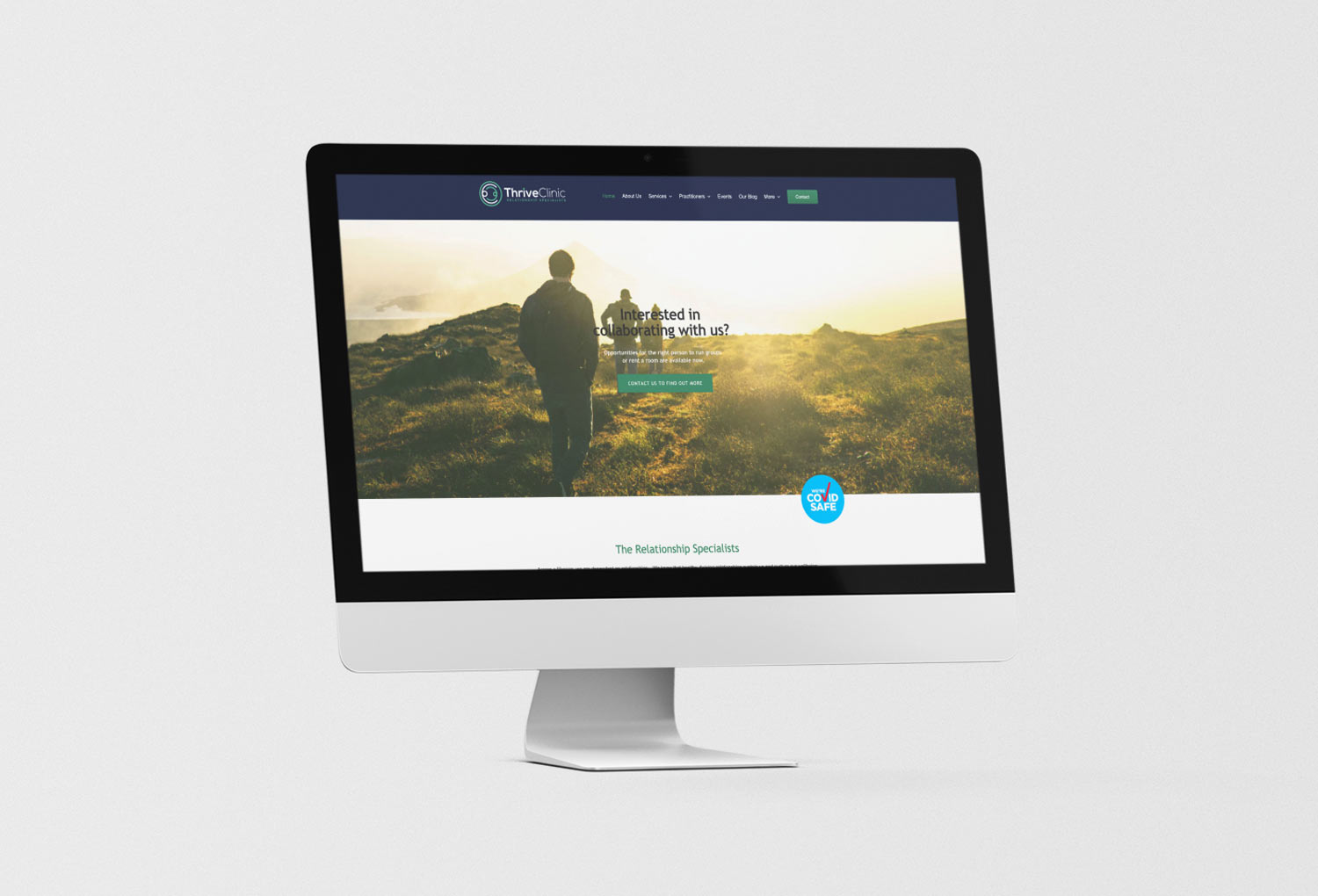 Thrive Psychology Clinic Home Page Website Design By Mango Tree Media