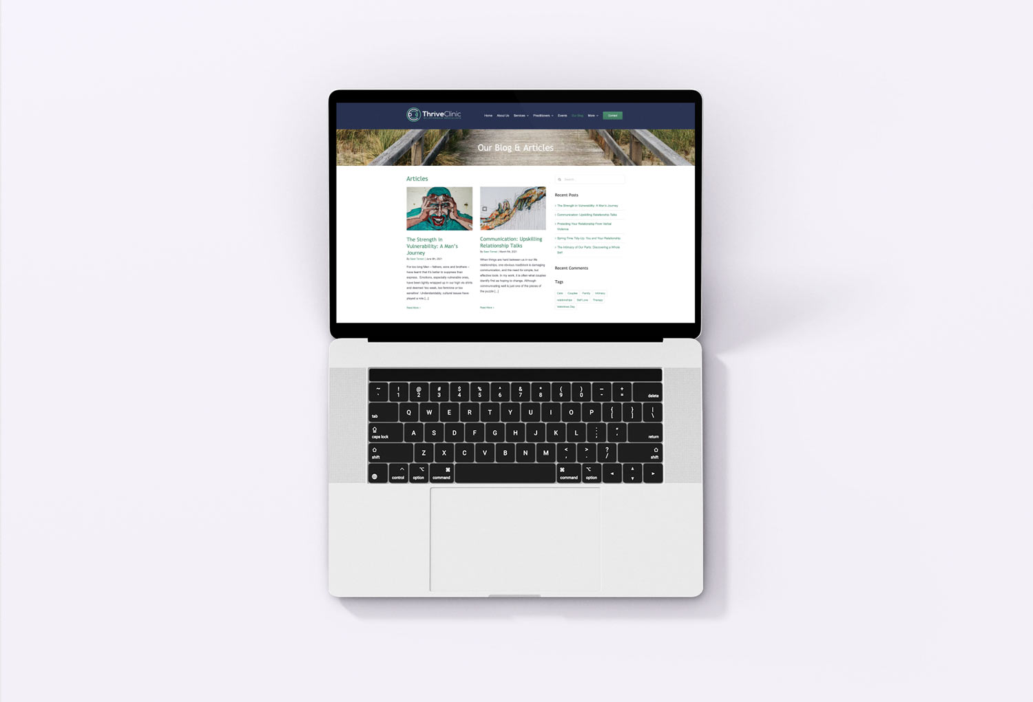 Thrive Psychology Clinic Blog Page Website Design By Mango Tree Media