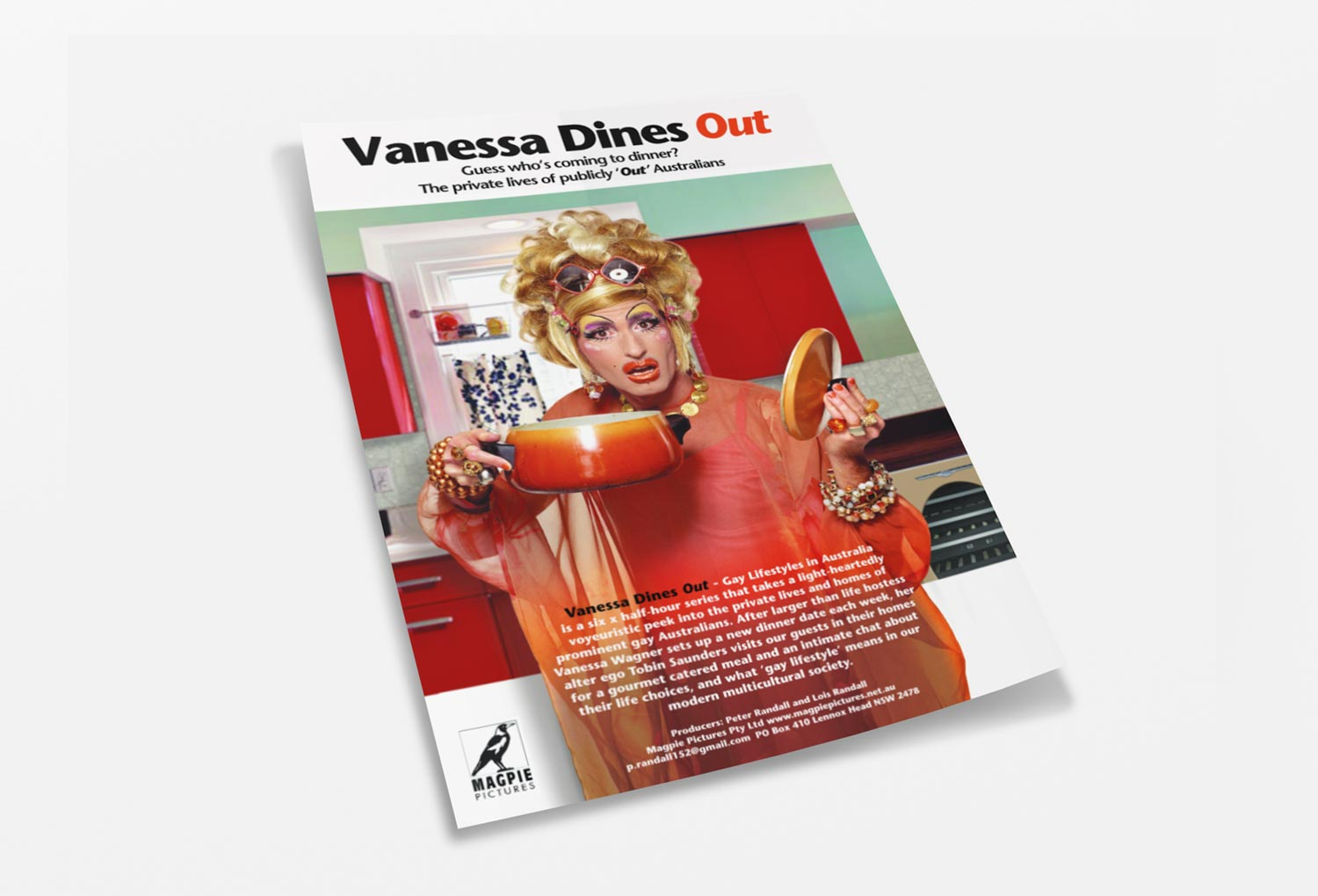 Vanessa Dines Out One-Sheet Film Pitch Document By Mango Tree Media