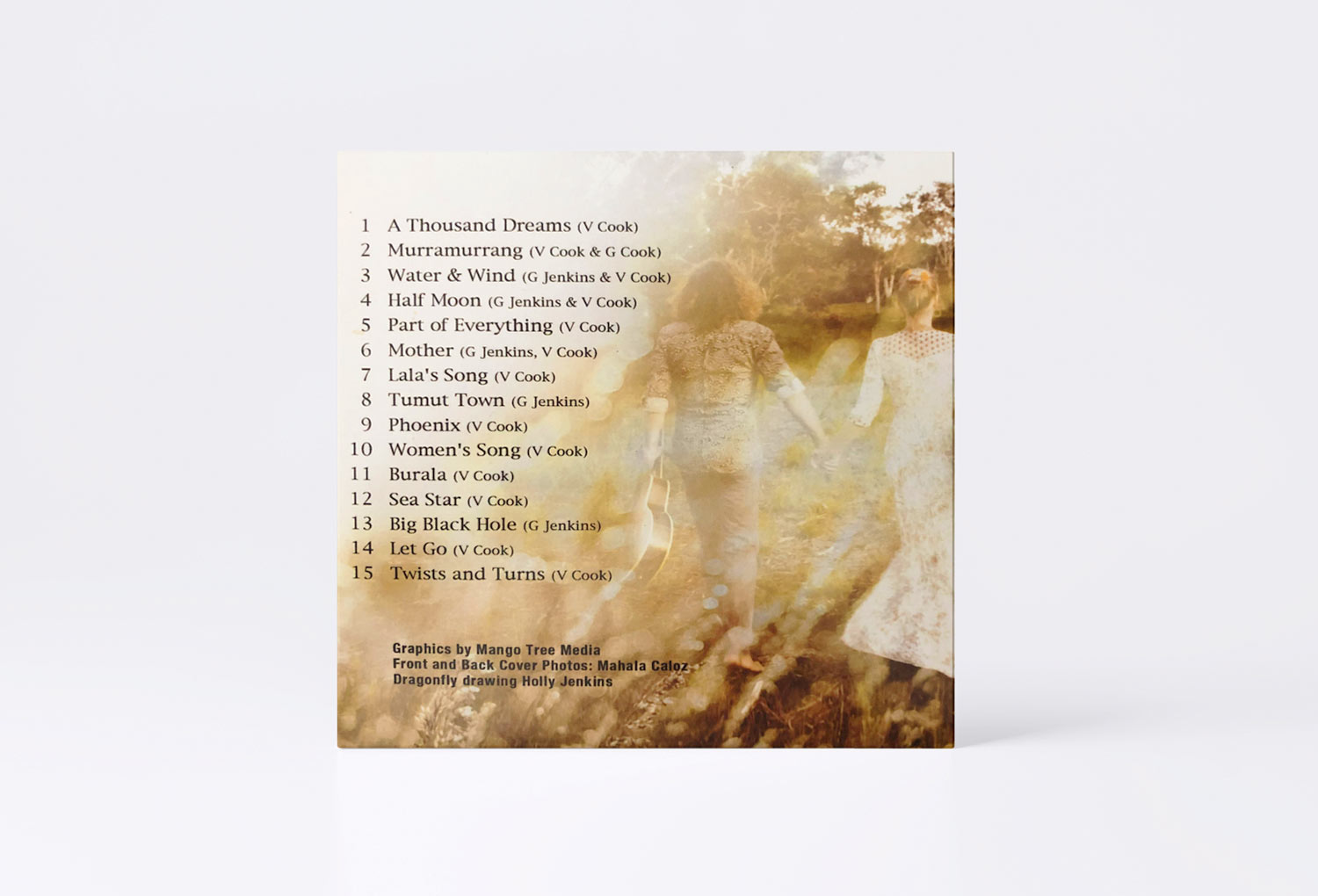 Cariad Celtic Music CD Back Cover Music Graphic Design By Mango Tree Media