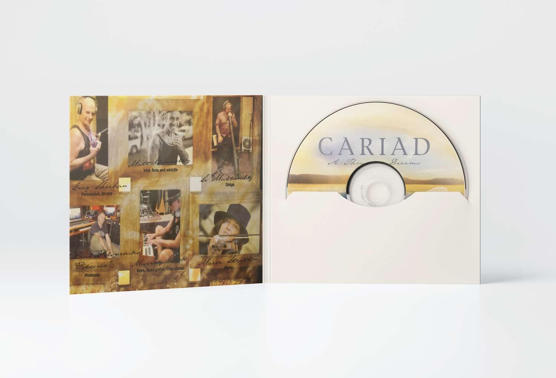 Cariad Celtic Music CD Sleeve Inside Music Graphic Design By Mango Tree Media