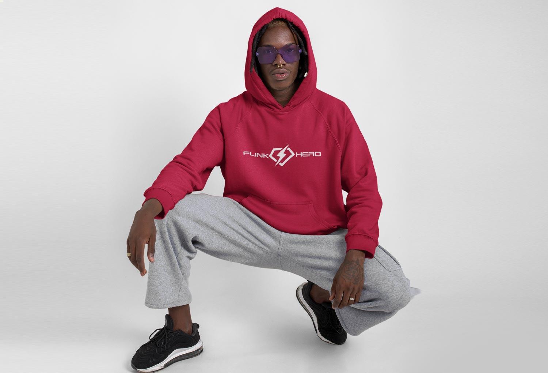 Funk Hero Hoodie Fashion Merch Design By Mango Tree Media