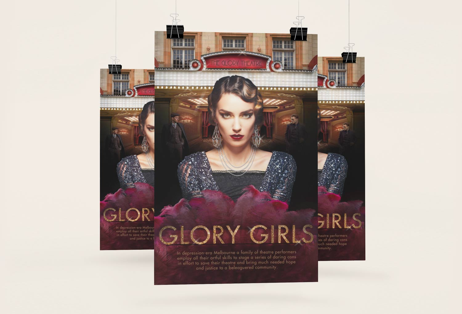 Glory Girls TV Series Pitch Poster Graphic Design By Mango Tree Media