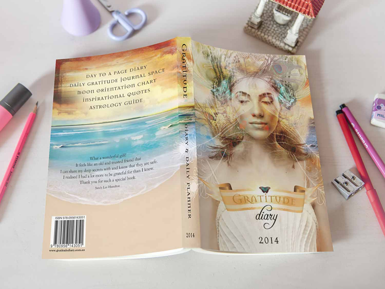 Gratitude Diary Book Cover Graphic Design By Mango Tree Media
