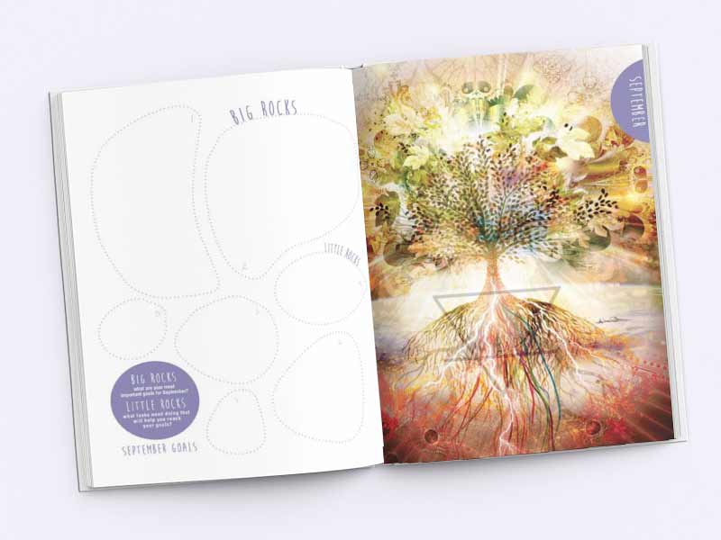 Gratitude Diary Book Inside Pages Graphic Design By Mango Tree Media