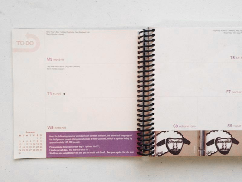 Happy Days Diary Book Inside Pages Graphic Design By Mango Tree Media