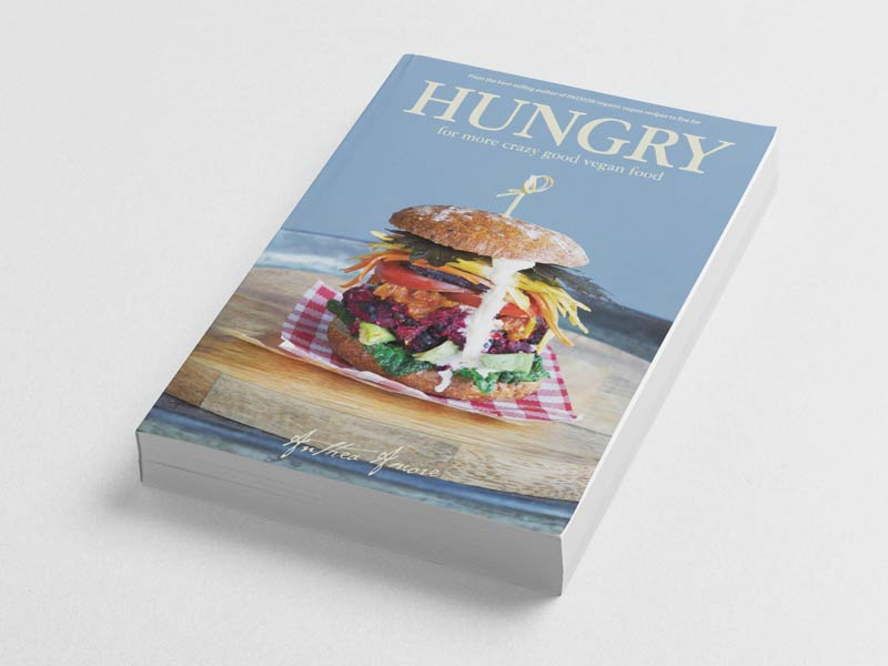 Hungry Vegan Cookbook Book Cover Graphic Design By Mango Tree Media