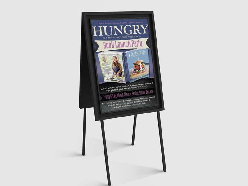 Hungry Vegan Cookbook Event Poster Graphic Design By Mango Tree Media