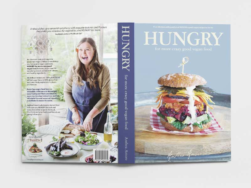 Hungry Vegan Cookbook Cover Graphic Design By Mango Tree Media