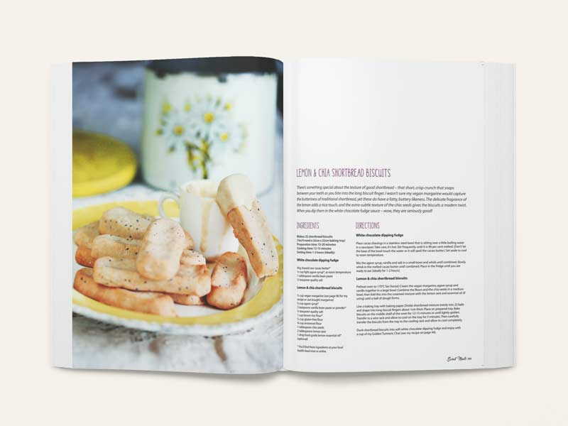 Hungry Vegan Cookbook Inside Page Graphic Design By Mango Tree Media