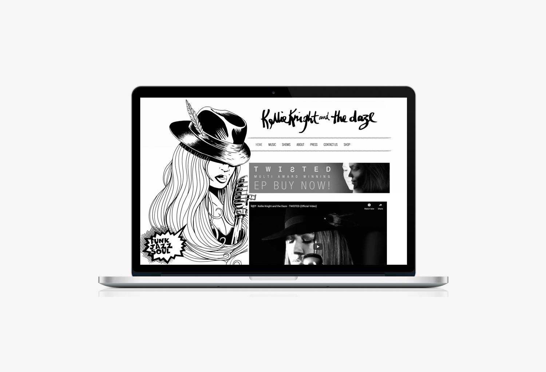 Kellie Knight and The Daze Music Website Design By Mango Tree Media