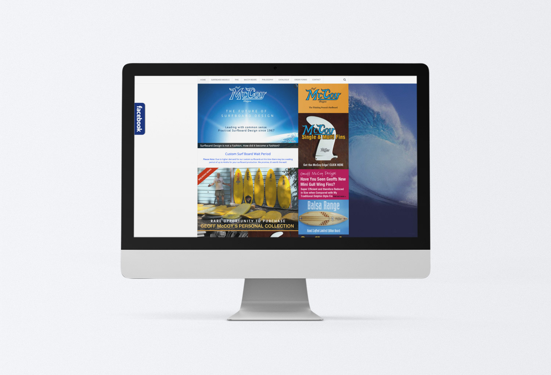 McCoy Surfboards Website Design By Mango Tree Media