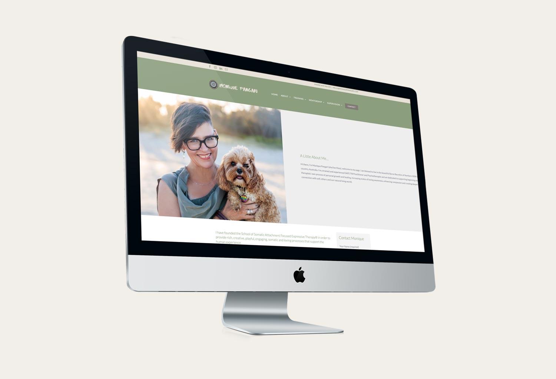 Monique Pangari Psychology About Page Website Design By Mango Tree Media
