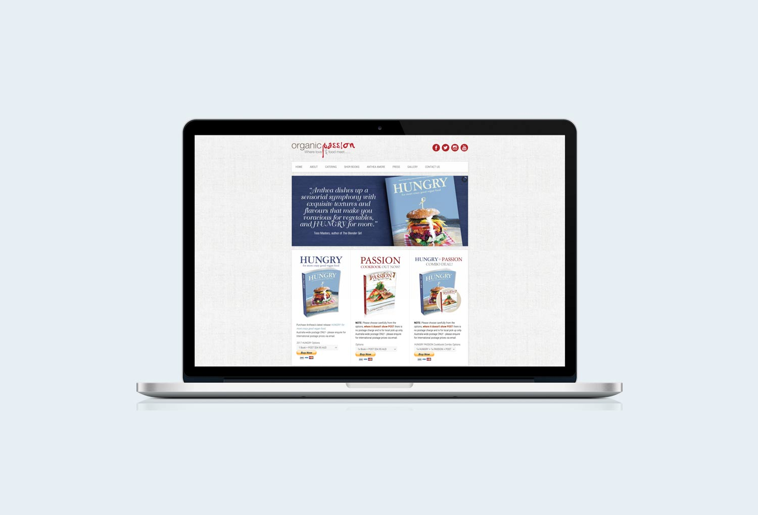 Organic Passion Catering Website Design By Mango Tree Media