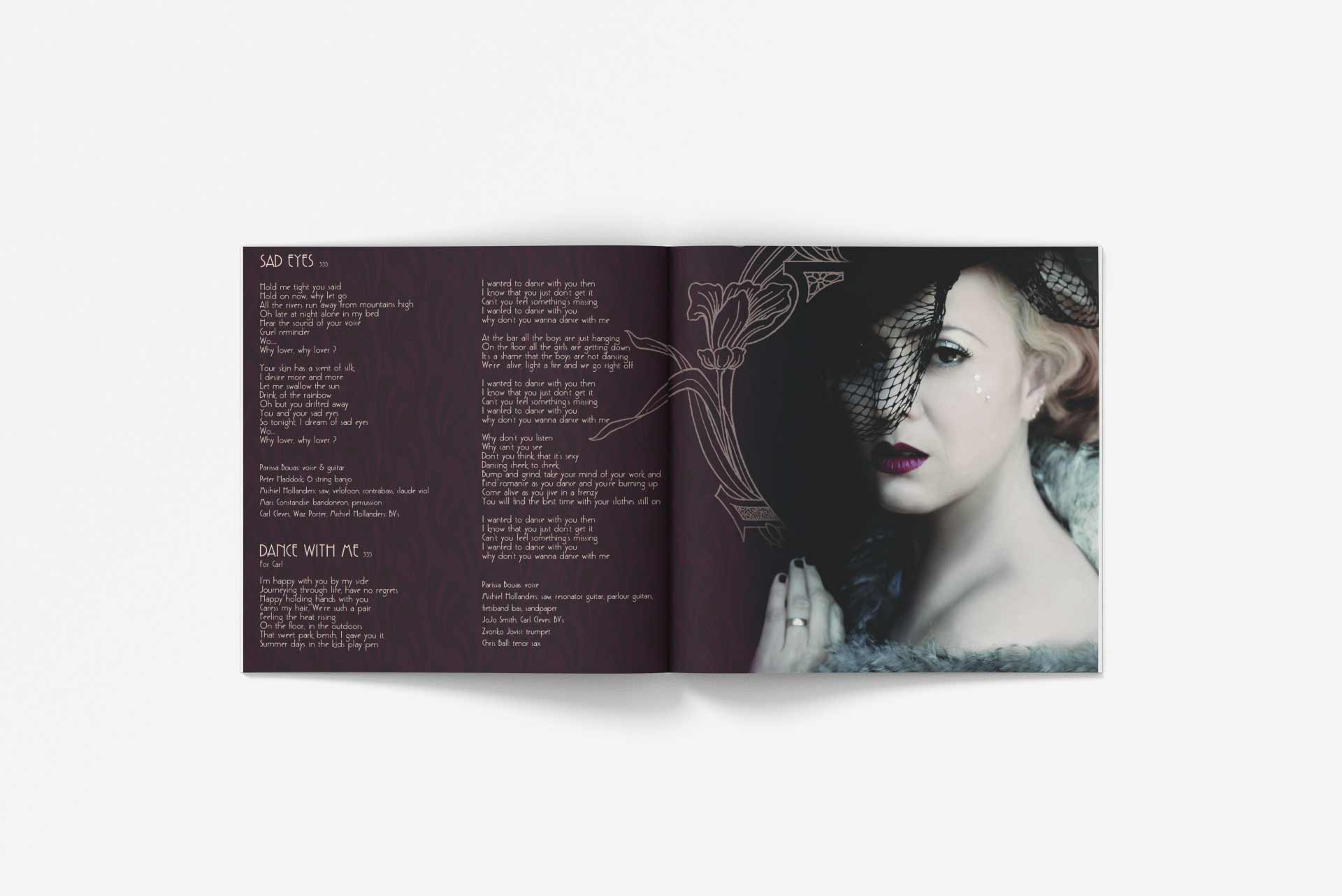 Parrisa Bouas Cd Inside Booklet Music Graphic Design By Mango Tree Media