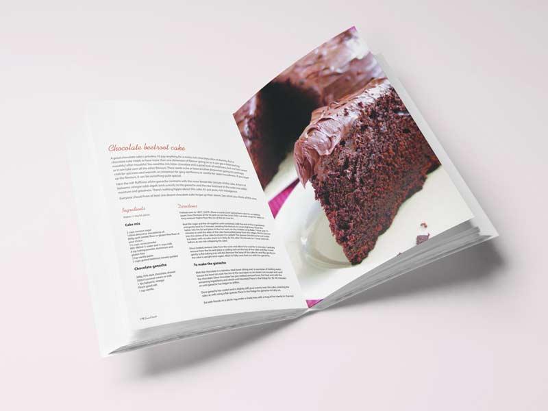 Passion Vegan Cookbook Interior Page Graphic Design By Mango Tree Media