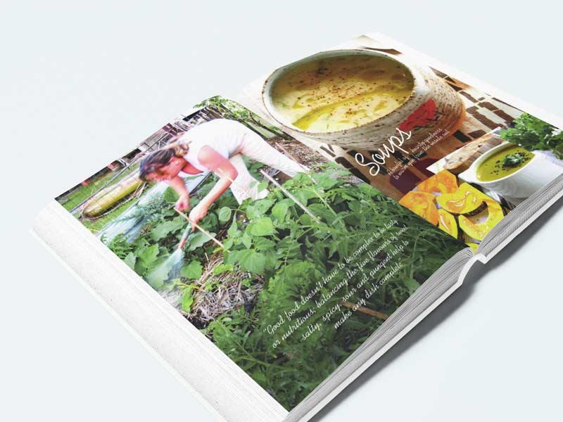 Passion Vegan Cookbook Interior Graphic Design By Mango Tree Media