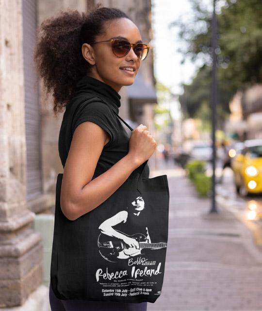 Rebecca Ireland Tote Bag Music Graphic Design By Mango Tree Media