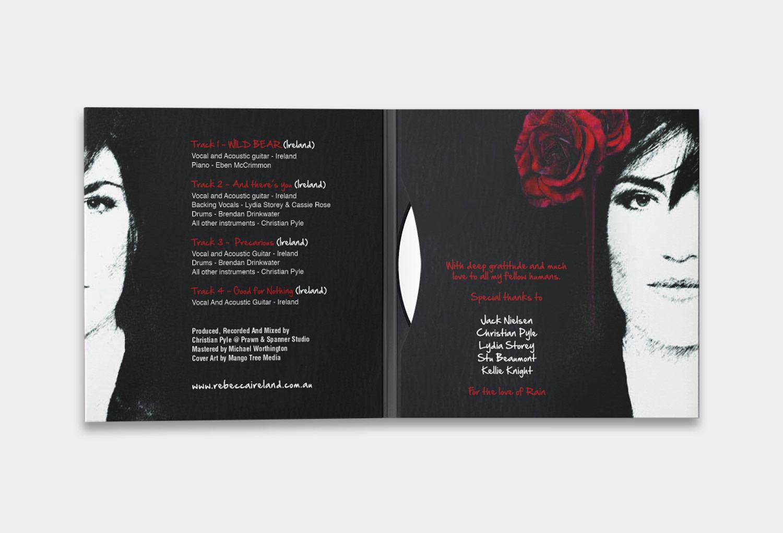 Rebecca Ireland Inside CD Sleeve Music Graphic Design By Mango Tree Media